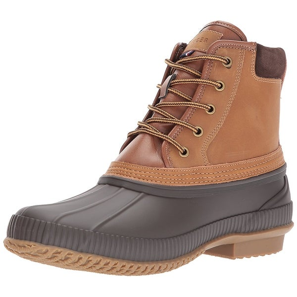 Tommy Hilfiger Mens Casey Rubber Round Toe Ankle Fashion Boots