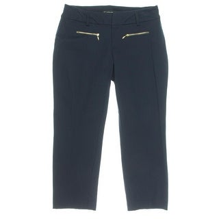 INC NEW Blue Women's Size 6X26 Front-Tab Zipped-Pocket Dress Pants