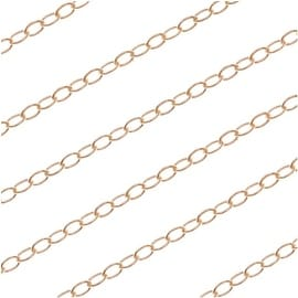 14/20 Gold Filled Fine Flat Delicate Cable Chain 1.3mm Bulk By the Foot