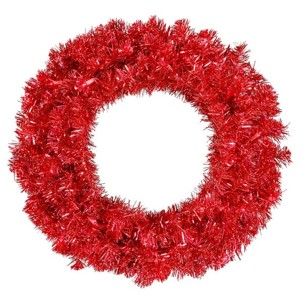 "30"" Red Wreath 70Red Lts 260T"
