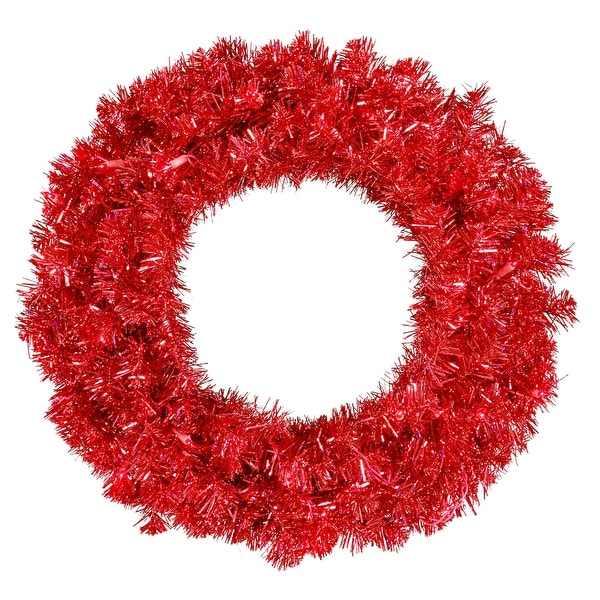 "36"" Red Wreath Dural LED 100Rd Lts 320T"