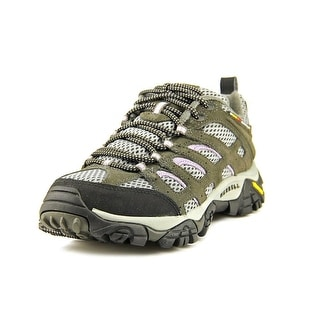 Merrell Moab Ventilator Women Round Toe Leather Gray Hiking Shoe