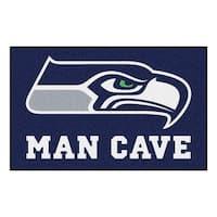 NFL Seattle Seahawks Man Cave Ultimate Rectangular Mat Area Rug