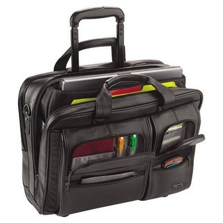 Classic Leather Rolling Case - Black, 15.6 in.