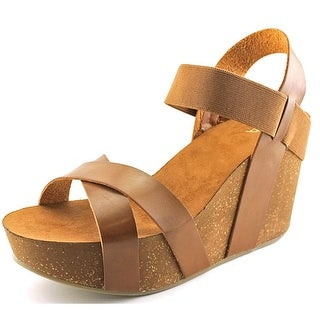 Mia Joy Women Open Toe Synthetic Wedge Sandal