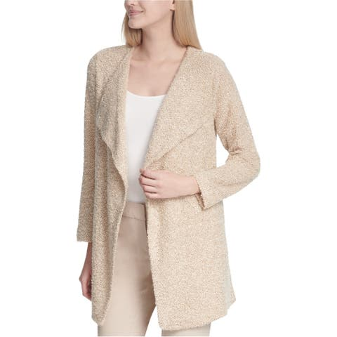 Calvin Klein Womens Flyaway Cardigan Sweater