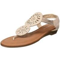 43a834e9ba8b Shop Floopi Womens Summer Criss Cross Slingback Elastic Strap Flat ...