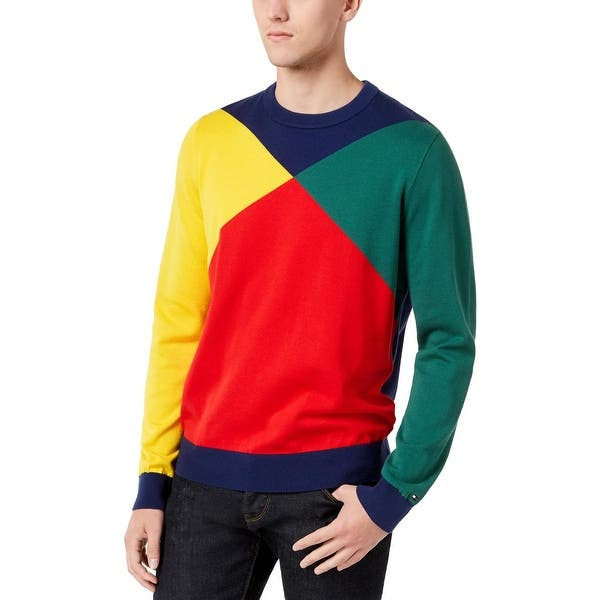 53205e95 Shop Tommy Hilfiger Mens Pullover Sweater Knit Colorblock - Free ...