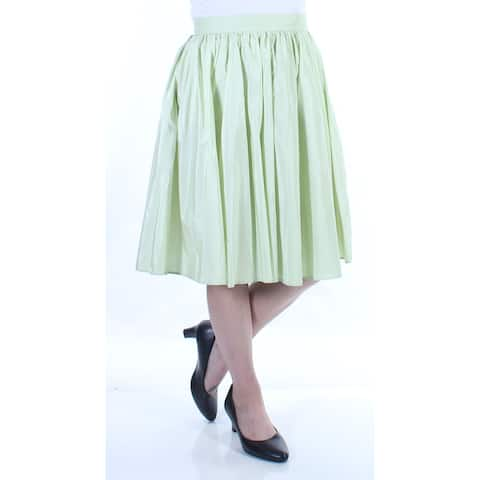 MAXMARA Womens Green Zippered Knee Length Pleated Skirt Size 4