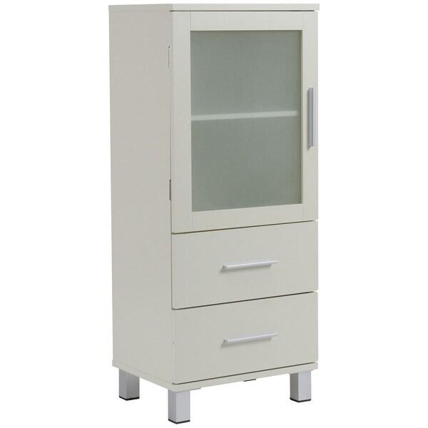 Shop Gymax Wood Floor Cabinet Storage Unit Organizer Stand