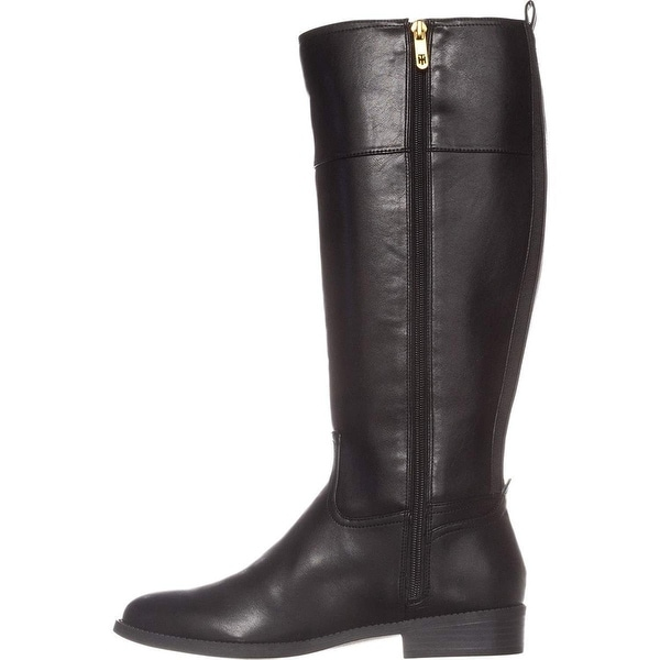 5ce6dd00d Tommy Hilfiger Womens ilia2 Leather Almond Toe Knee High Fashion Boots