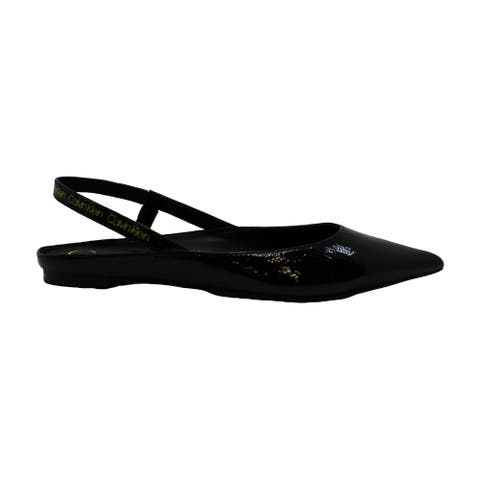Calvin Klein Womens Maya Leather Pointed Toe SlingBack Slingback Flats