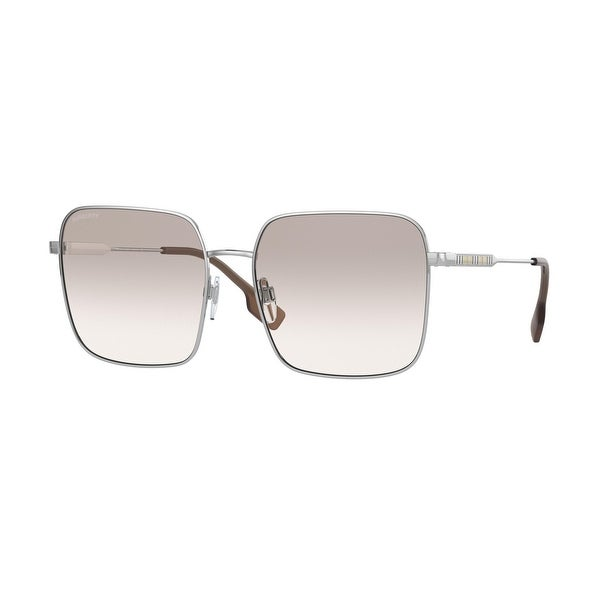 Burberry BE3119 10057I 58 Silver Woman Square Sunglasses. Opens flyout.