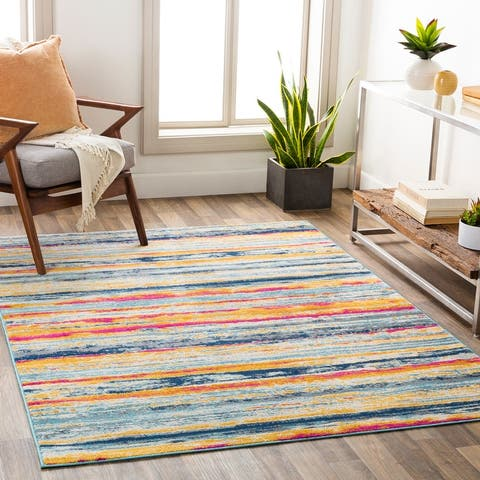 The Curated Nomad Bevers Vibrant Striped Area Rug