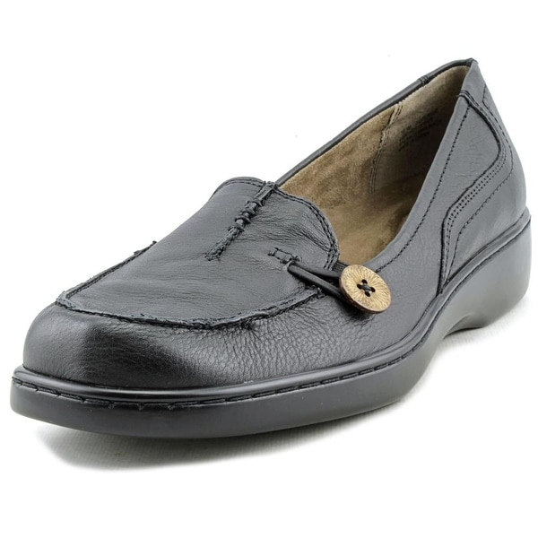 Array Superior Women W Moc Toe Leather Black Loafer