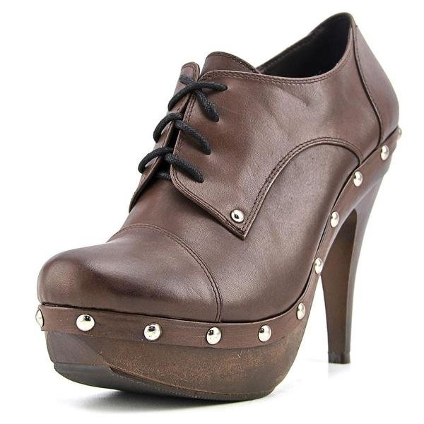 N.Y.L.A. Tacey Women Open Toe Synthetic Brown Platform Heel