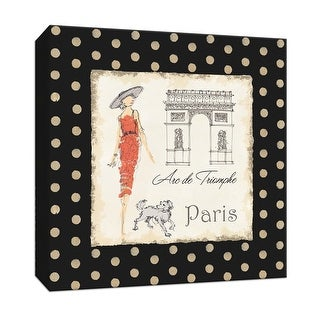 """PTM Images 9-152687  PTM Canvas Collection 12"""" x 12"""" - """"Ladies in Paris I"""" Giclee Women Art Print on Canvas"""