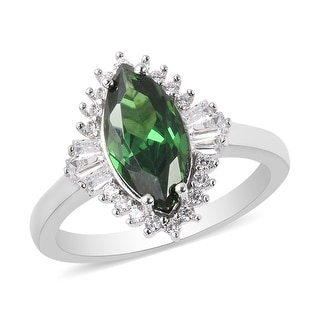 Link to 925 Silver Green White Cubic Zirconia Ring Size 10 Ct 3.2 - Ring 10 Similar Items in Rings