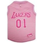 NBA Los Angeles Lakers Pet Pink Jersey