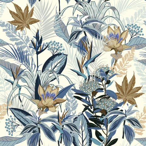 Summer Wild Forest Blooming Removable Wallpaper - 24'' inch x 10'ft