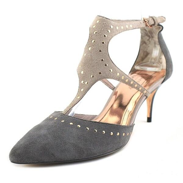 4b34563279e Shop Ted Baker Dvaita Women Round Toe Suede Gray Heels - Free ...