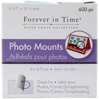 "Multicraft Photo Mounts .37"" 600/Pkg-Clear, Double-Sided"