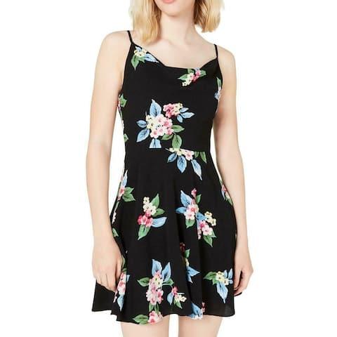 B. Darlin Junior's Dress Classic Black Size 0 A-Line Floral Print