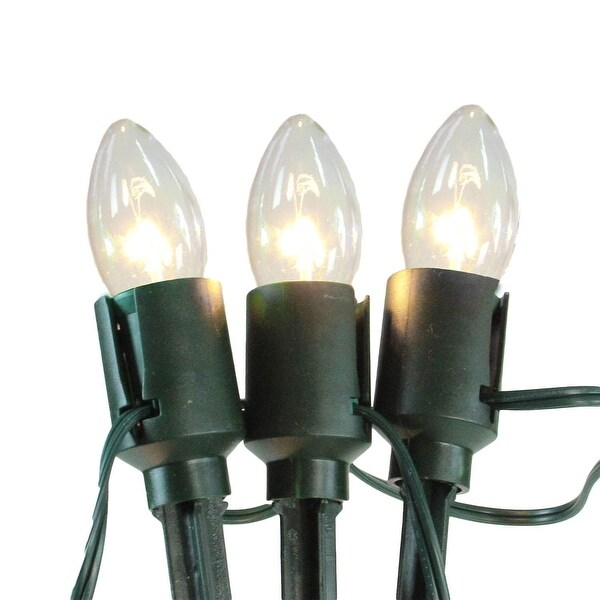 Set of 15 Clear Lighted Mighty Light C9 Shape Christmas Pathway Markers - multi