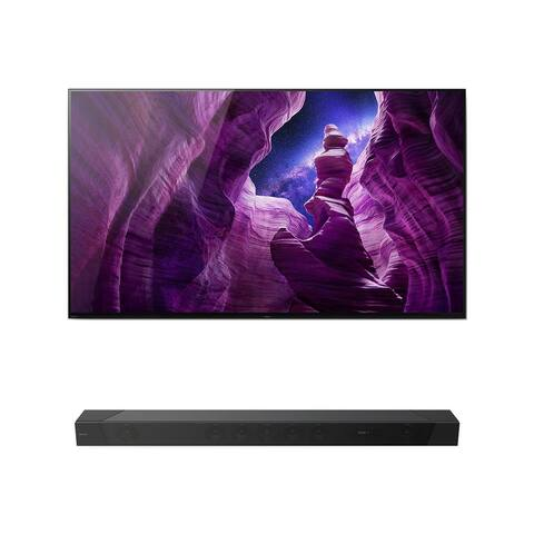 Sony XBR55A8H BRAVIA OLED 4K Smart TV with HDR with HT-ST5000 7.1.2ch 800W Dolby Atmos Sound Bar
