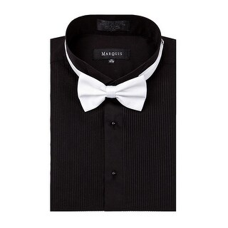 Marquis wing tip collar tuxedo shirt with bow tie