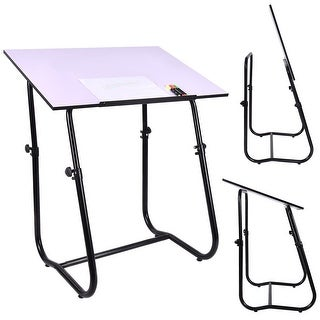 Gymax Adjustable Drafting Table Studio Smart Drawing Crafting Art Craft Desk
