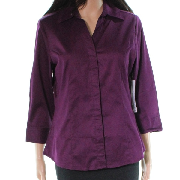 bb71e7394f4347 Shop Riders by Lee Indigo Purple Bella Women Small S Button Down Shirt - On  Sale - Free Shipping On Orders Over $45 - Overstock - 28012146