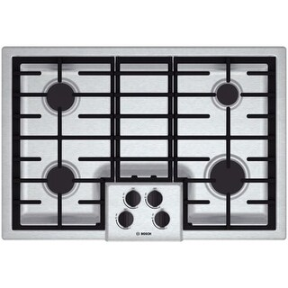 Bosch NGM5055UC 30 Inch Gas Cooktop with Automatic Electronic Re-Ignition