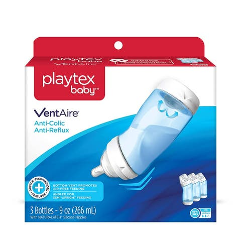 Playtex Baby VentAire Anti-Colic, 9 oz Bottles, 3 Count
