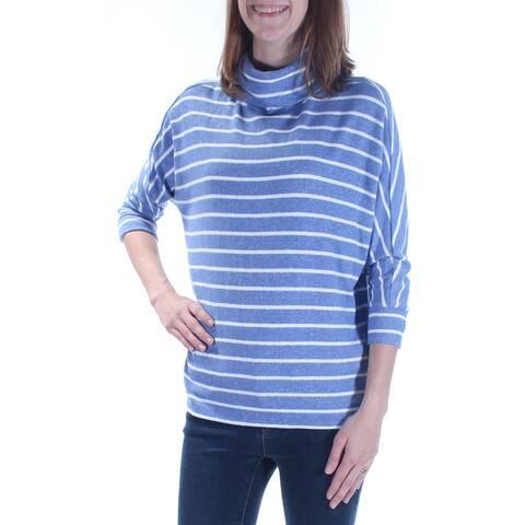 MAISON JULES Womens Blue Striped Dolman Sleeve Top Size XS