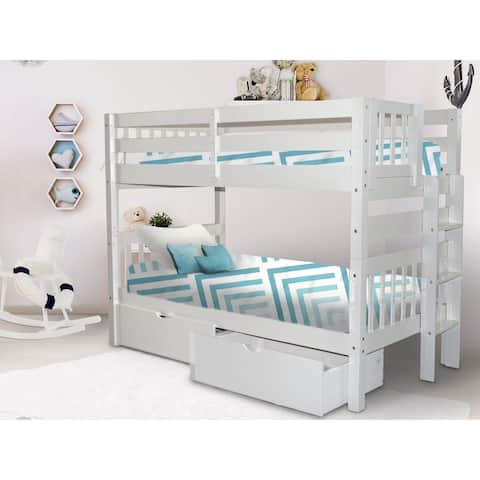 Taylor & Olive Trillium Twin over Twin Bunk Bed & 2 Drawers