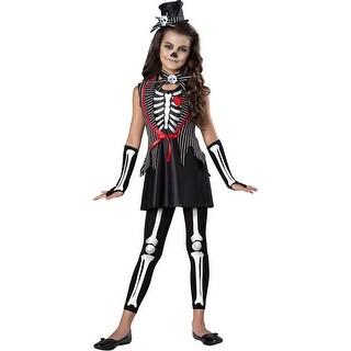 Girls Skeleton Cutie Halloween Costume