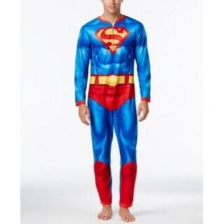 Briefly Stated NEW Blue Mens Size XL Super-Man One Piece Sleepwear