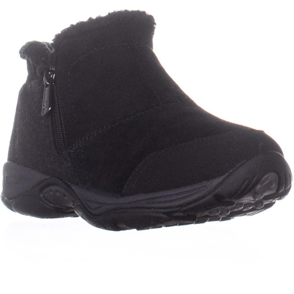 b786b602a Shop Easy Spirit Embark Flat Comfort Ankle Boots, Black Suede - On Sale -  Free Shipping Today - Overstock - 26872903 - 8.5 US
