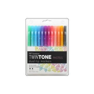 Tombow TwinTone Marker Set Pastel 12pc