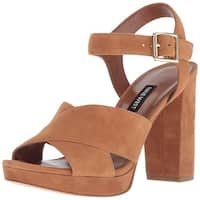 Nine West Women's Jimar Suede Heeled Sandal - 9.5