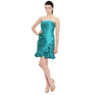 Phoebe Pleated SILK Cocktail Dress