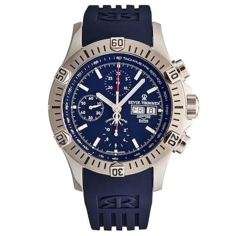 Revue Thommen Men's 16071.6826 'Airspeed' Blue Dial Day-Date Chronograph Automatic Watch