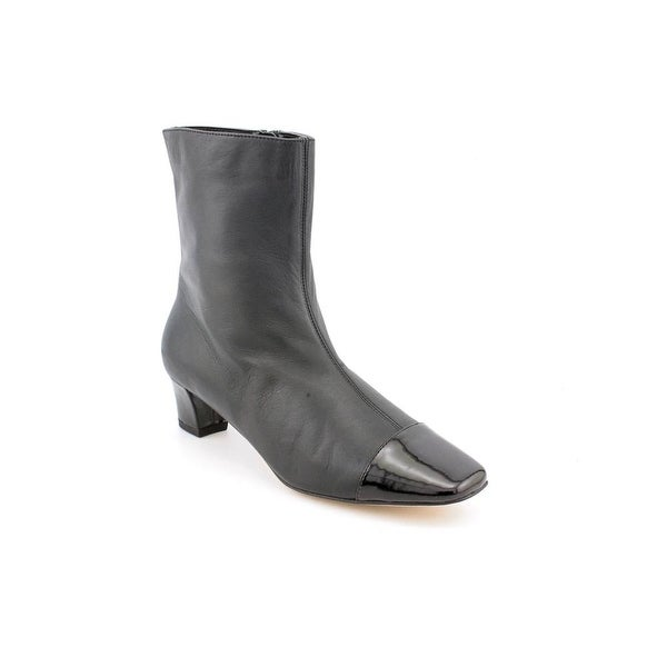 Auditions Class Act Women W Square Toe Leather Black Mid Calf Boot