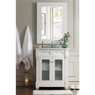 29 in. Weston Rectangular Mirror, Cottage White