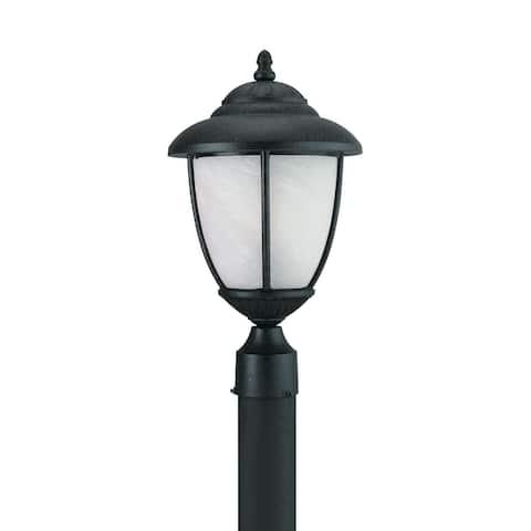 Sea Gull Yorktown Forged Iron 1-light Outdoor Post Lantern
