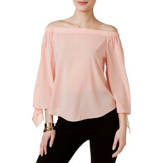 Joan Vass Womens Casual Top Pleated Off-The-Shoulder (2 options available)