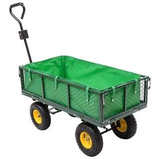 Costway Garden Carts And Wagons 800LB Utility Outdoor Yard Lawn Yard Buggy Trailer Steel