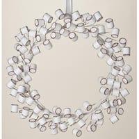 "20"" Sweet Memories Decorative Christmas Marshmallow Wreath 20"" - Unlit - WHITE"