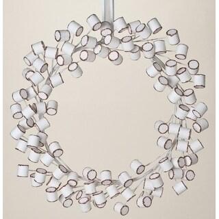 "20"" Sweet Memories Decorative Christmas Marshmallow Wreath 20"" - Unlit"